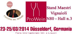 Pro Wein 2014 - Stand Maestri Vignaioli N80 - Hall n.3